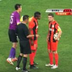 Teammates get into shoving match over who takes penalty, winner's shot gets saved