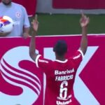 Internacional player sent off for giving his own club's fans the finger