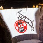 Cologne's mascot projected onto the Hoover Dam for strange new world record