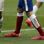 PES 2015 ads appearing on La Liga teams' socks