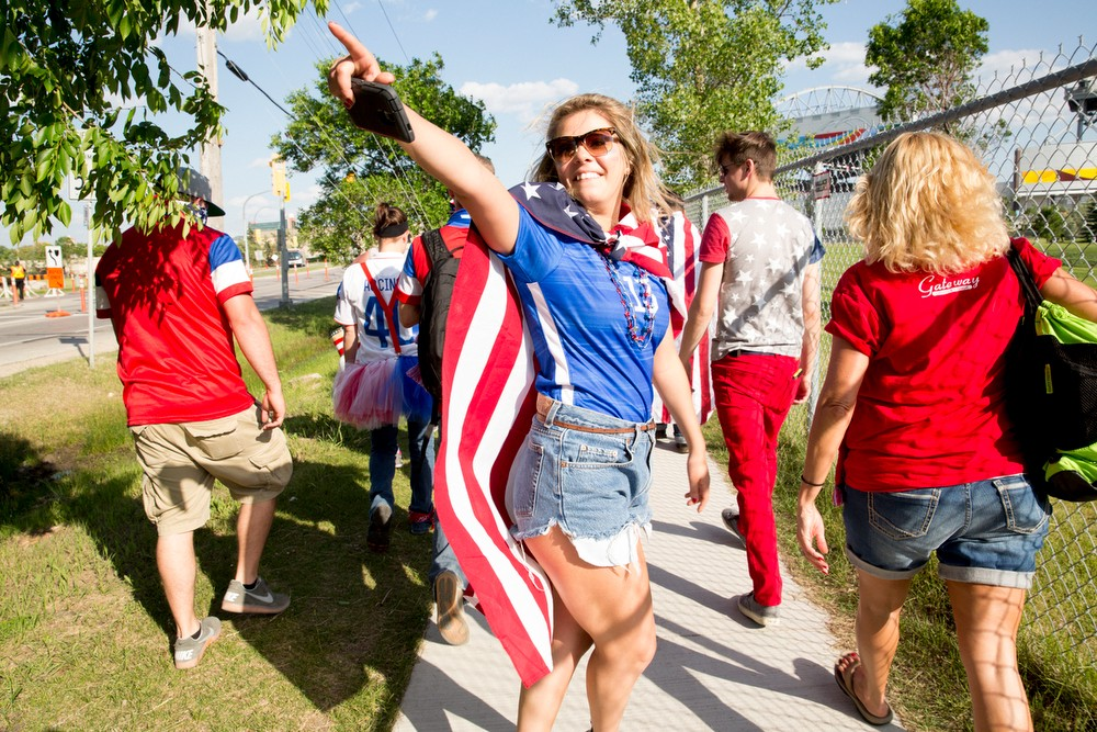 The American Outlaw pre-USA v Sweden match party in Winnipeg, Canada on Friday, June 12th, 2015. Photos by Jasmin Shah.