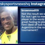 Jamaica player's explanation for Messi selfie makes perfect sense