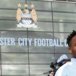 Raheem Sterling's first day at Man City in pictures