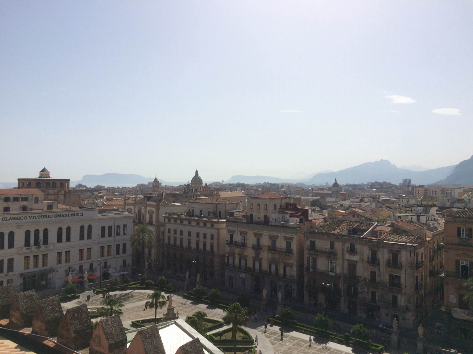 Palermo from the roof of the city's cathedral.