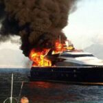 Napoli owner saved from burning yacht