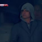 Hooded Jose Mourinho attends Spain-Ukraine, possibly creeps out Cesc Fabregas