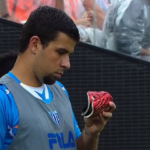 Avai substitute uses phone hidden in shin pad during match