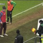 Francesco Totti warms up with ball boy, toys with Pjanic