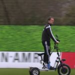 Injured Frank De Boer running Ajax training sessions from badass motorized tricycle