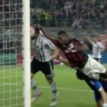 Mario Balotelli tried to score with his hand