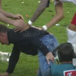 RB Leipzig manager injures himself while trying to dodge celebratory beer shower