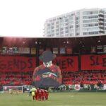 Portland fans hoist massive Freddy Krueger tifo for Cascadia derby