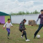 I spent 24-hours of my honeymoon playing soccer with Syrian refugees