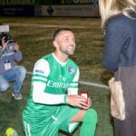 Cosmos' Danny Szetela proposes to girlfriend with a tifo