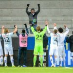 Gefle IF celebrate win with their one traveling fan