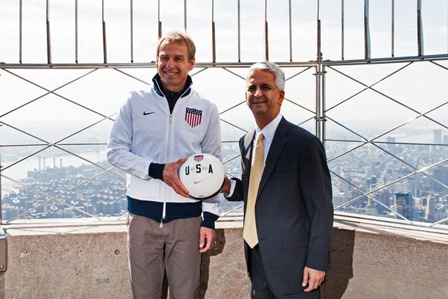Jurgen Klinsmann and Sunil Gulati in better times