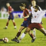 Mia Hamm delivers the golden goal in the 2002 Gold Cup final