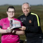 Fan with one leg wins Scottish Football League's goal of the month award