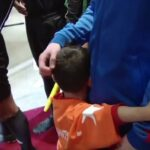 Upon meeting his idol, boy with the homemade Messi shirt can't stop hugging Lionel Messi