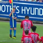 A-League ball boy tries to spoil Tim Cahill's goal celebration