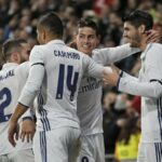 Real Madrid newcomer James Rodriguez announces his arrival with two-goal performance
