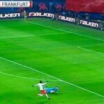 Frankfurt goalkeeper shown red two minutes into match