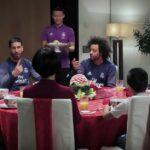 Cristiano Ronaldo, Sergio Ramos, Marcelo, and Pepe attempt to speak Chinese