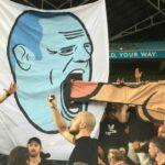 Western Sydney Wanderers ban 14 fans for oral sex banner at Sydney derby