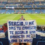 Sergio Ramos traded his shirt for a pork dish