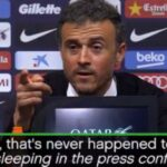 Journalist sleeps during Luis Enrique press conference, Sunderland owner's wife sleeps during match