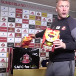 David Moyes hands out chocolate eggs to journalists at press conference