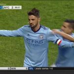 David Villa scores from distance because he didn't feel like running any further