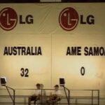 When Australia set an international football scoring record