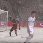 Real Salt Lake player throws snowball at opponent during match