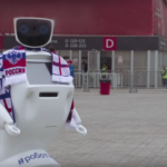 Russia has a nerdy robot to protect English fans from hooligans at the World Cup
