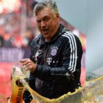 Carlo Ancelotti survives his first Bayern beer shower as Philipp Lahm gets his sendoff