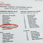 Michael Carrick gets his name misspelled, nutmegged by his son at his own testimonial