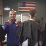 This is Radja Nainggolan butchering people's hair as fast as he can