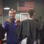 This is Radja Nainggolan butchering people's hair as fast as he can