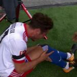 HSV's Nicolai Müller scores in opening match, ruptures his ACL celebrating, will miss seven months
