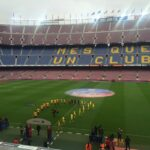 Barcelona play emotional match behind closed doors in protest