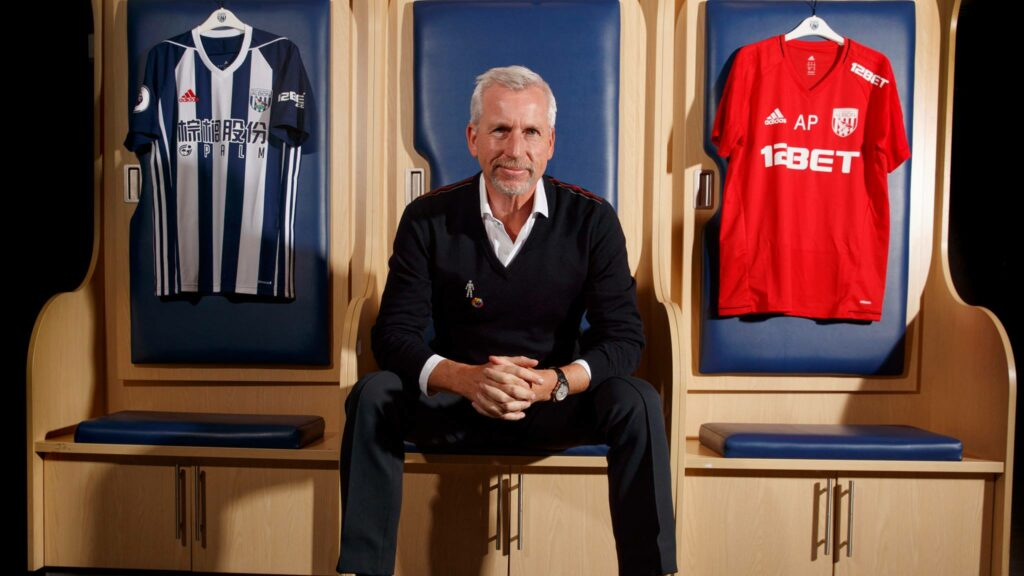 West Brom's new manager, Alan Pardew, at his most DILF