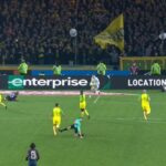 Ligue 1 ref tries to earn starting job with PSG by kicking out at Nantes player, then sending him off
